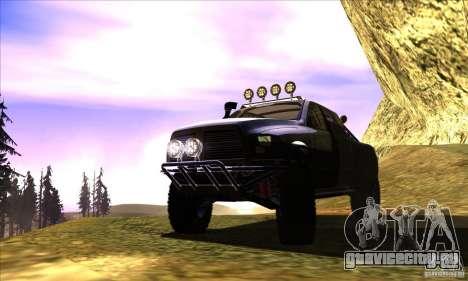 Dodge Ram All Terrain Carryer для GTA San Andreas вид изнутри
