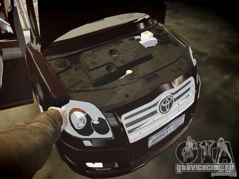 Toyota Avensis для GTA 4 салон