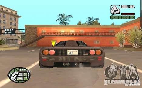 McLaren F1 для GTA San Andreas вид справа