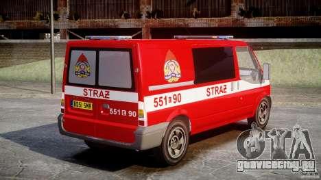 Ford Transit Polish Firetruck [ELS] для GTA 4 вид изнутри