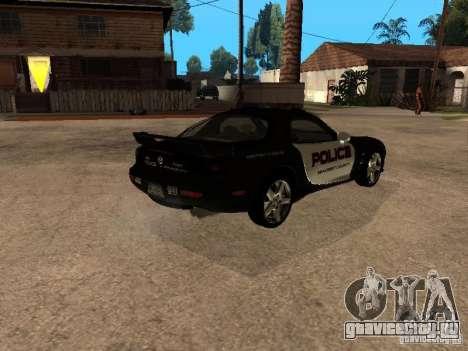 Mazda RX-7 Police для GTA San Andreas вид сзади слева