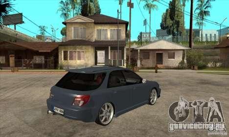 Subaru Impreza Universal для GTA San Andreas вид изнутри