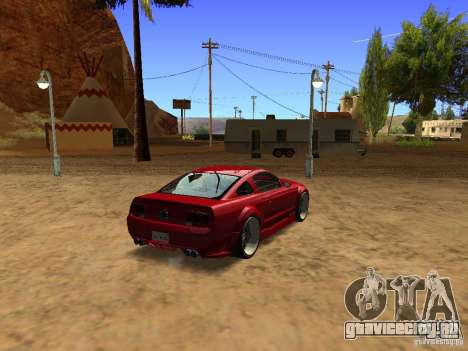 Ford Mustang GT 2005 Tuned для GTA San Andreas вид сзади слева
