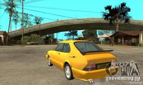 Saab 900 Turbo 1989 v.1.2 для GTA San Andreas вид справа