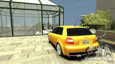 Audi S3 для GTA 4 вид сзади слева