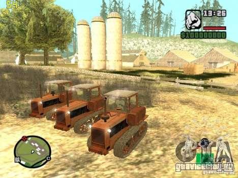 Трактор ДТ-75 Почтальон для GTA San Andreas вид сзади слева