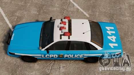 Vapid Police Cruiser ELS для GTA 4 вид справа