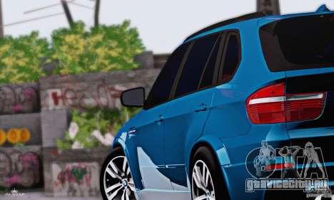 BMW X5M 2013 v1.0 для GTA San Andreas вид сзади слева