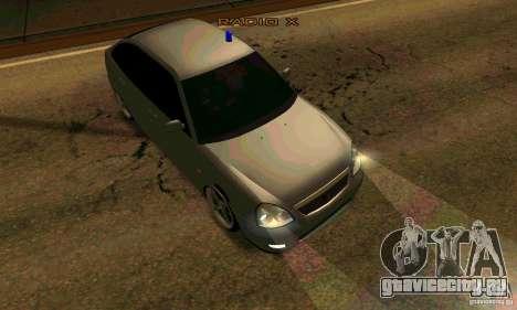 LADA ВАЗ 21723 Тюнинг для GTA San Andreas вид сзади слева