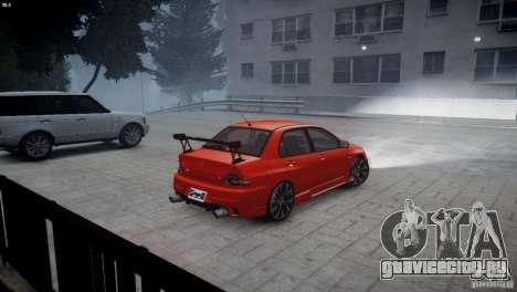 Mitsubishi Lancer Evolution 8 v2.0 для GTA 4 вид слева