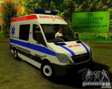 Mercedes-Benz Sprinter Baku Ambulans для GTA San Andreas