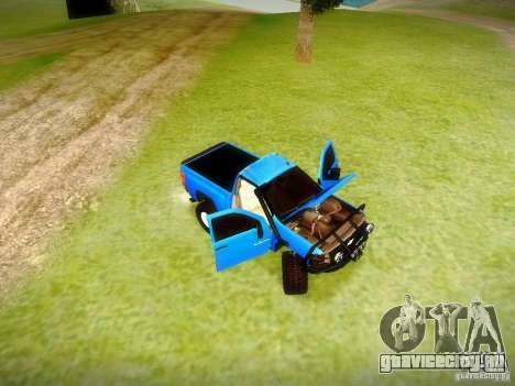 Chevrolet Silverado OFFRoad для GTA San Andreas вид сзади