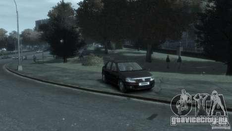 RENAULT LOGAN для GTA 4 вид слева