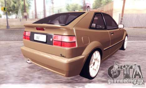 Volkswagen Corrado для GTA San Andreas вид сзади