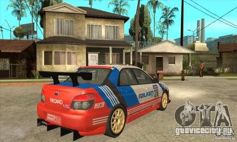 Subaru Impreza WRX STI 2006 для GTA San Andreas вид изнутри