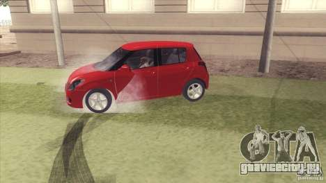Suzuki Swift versión Chilena для GTA San Andreas вид справа