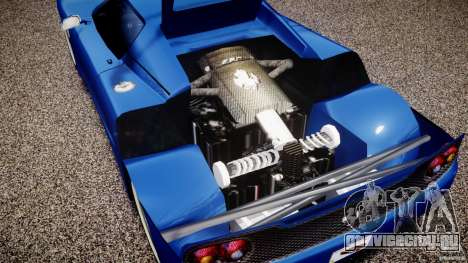 Ferrari F50 Spider v2.0 для GTA 4 вид сзади