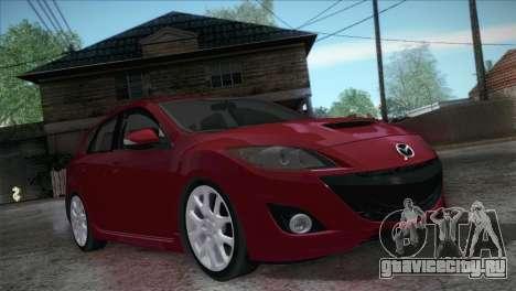 Mazda Mazdaspeed3 2010 для GTA San Andreas вид сзади