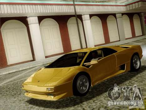 Lamborghini Diablo VT 1995 V3.0 для GTA San Andreas вид изнутри