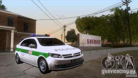 Volkswagen Voyage Policija для GTA San Andreas вид сзади