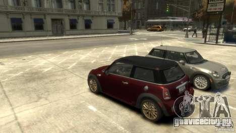 Mini John Cooper Works 2009 для GTA 4 вид слева