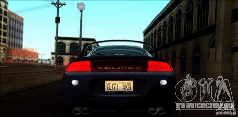 Mitsubishi Eclipse GSX 1999 для GTA San Andreas вид сзади слева