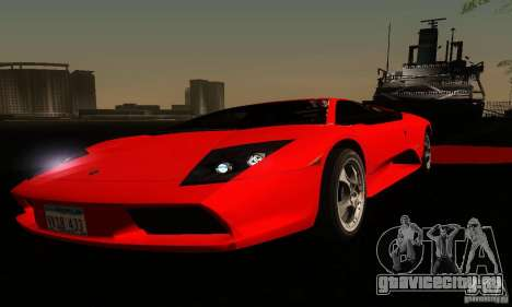 Lamborghini Murcielago для GTA San Andreas вид снизу