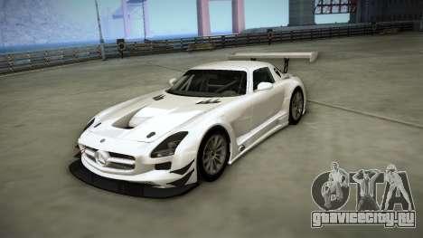 Mercedes-Benz SLS AMG GT3 для GTA San Andreas вид изнутри