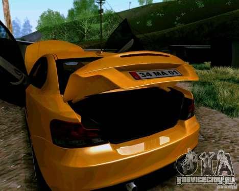 BMW 135 Tuning для GTA San Andreas вид сзади