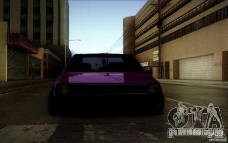 Volkswagen Polo Pickup для GTA San Andreas вид сзади