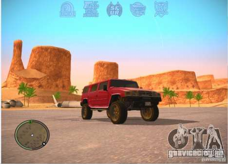 Patriot из GTA 4 для GTA San Andreas вид сзади слева
