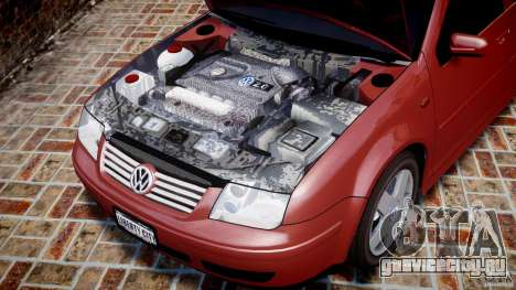 Volkswagen Bora для GTA 4 вид изнутри