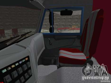 КАМАЗ 65222 для GTA San Andreas вид изнутри