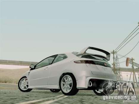 Honda Civic TypeR Mugen 2010 для GTA San Andreas вид сбоку