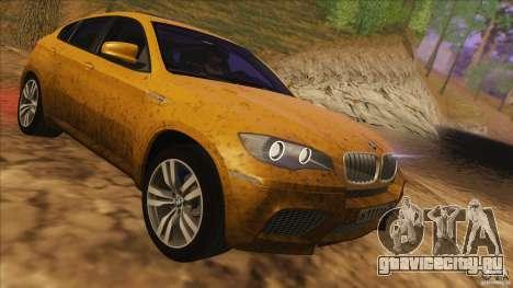 BMW X6M E71 v2 для GTA San Andreas вид изнутри