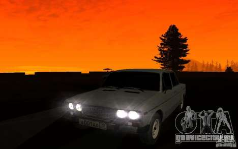 ВАЗ 2106 Тюмень для GTA San Andreas вид сверху