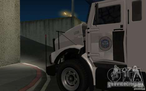 Securicar из GTA IV для GTA San Andreas вид сзади слева