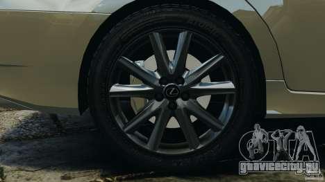 Lexus GS350 2013 v1.0 для GTA 4 вид сверху