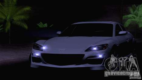 Mazda RX8 R3 2011 для GTA San Andreas вид изнутри