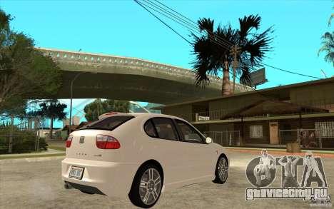 Seat Leon Cupra - Stock для GTA San Andreas вид справа