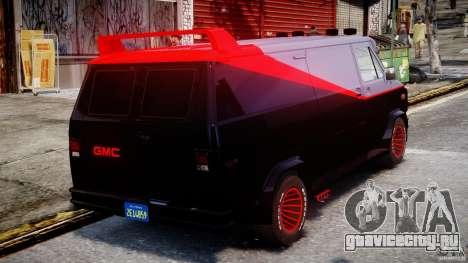 GMC Vandura A-Team Van 1983 для GTA 4 вид сверху