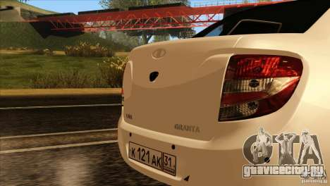 ВАЗ 2190 Гранта для GTA San Andreas вид изнутри