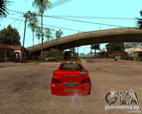 Peugeot 307 WRC для GTA San Andreas вид сзади слева