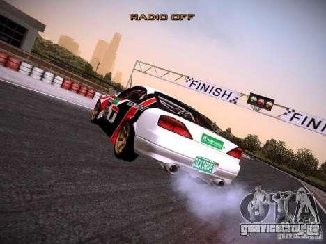 Nissan Silvia S15 DragTimes v2 для GTA San Andreas вид сзади слева