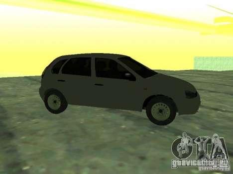 ВАЗ 1119 Калина Хэтчбэк для GTA San Andreas вид сзади слева