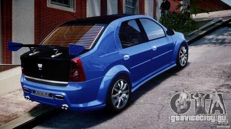 Dacia Logan 2008 [Tuned] для GTA 4 вид сверху