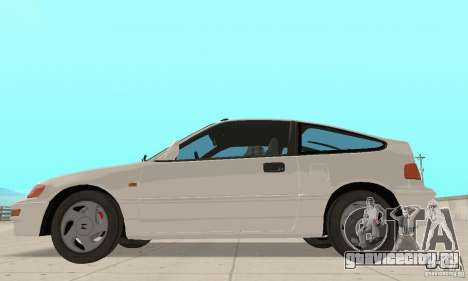 HONDA CRX II 1989-92 для GTA San Andreas вид слева