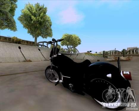 Harley Davidson FXD Super Glide для GTA San Andreas вид слева