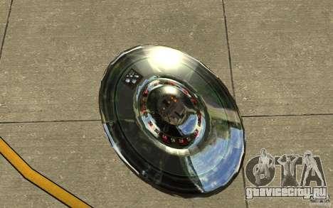 Real UFO для GTA San Andreas вид сзади