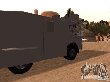 Полицейский водомет Rosenbauer v2 для GTA San Andreas вид сзади слева